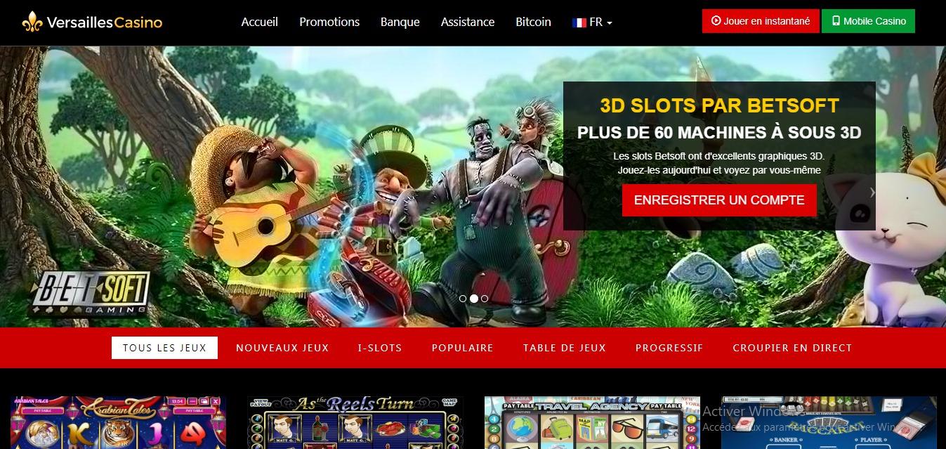 Avis sur Casino Versailles : des promotions limitées